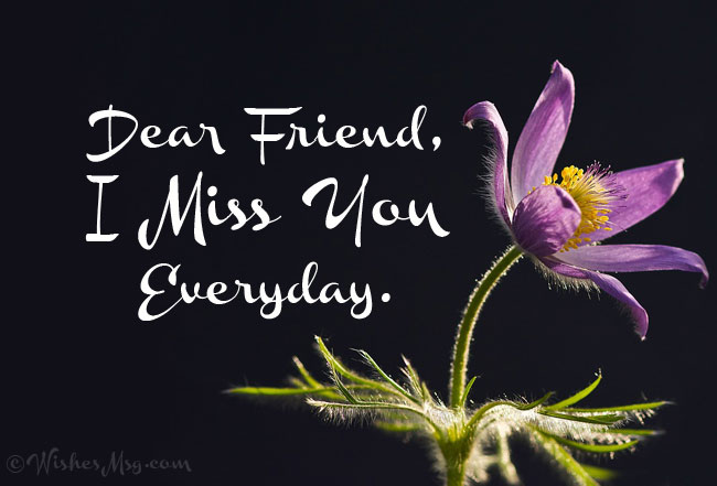 I Miss You Message for Friend