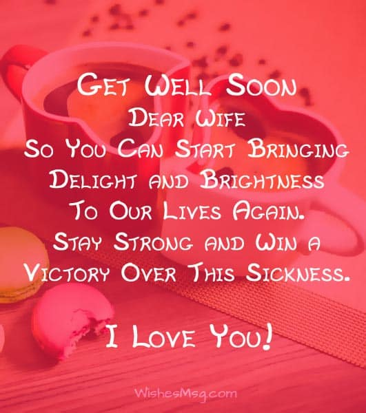 Motivational Get Well Wishes for Wife