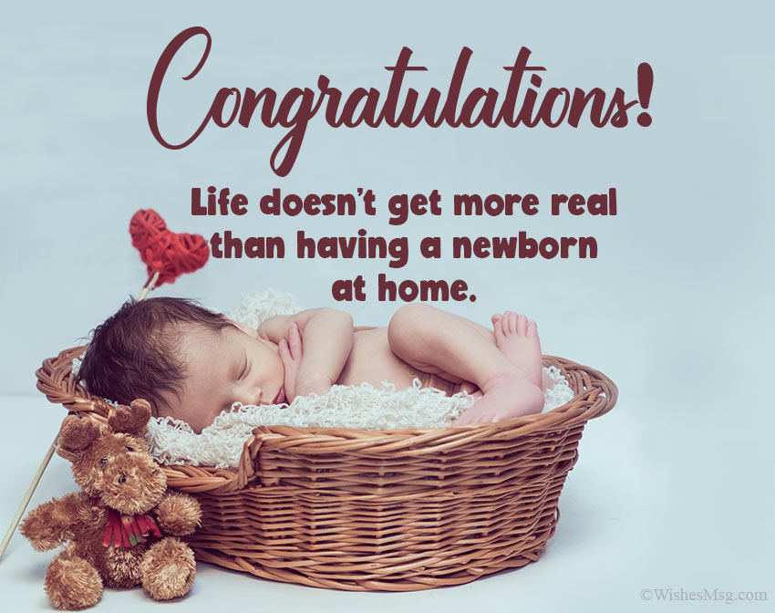 Congratulations Message for Newborn Baby