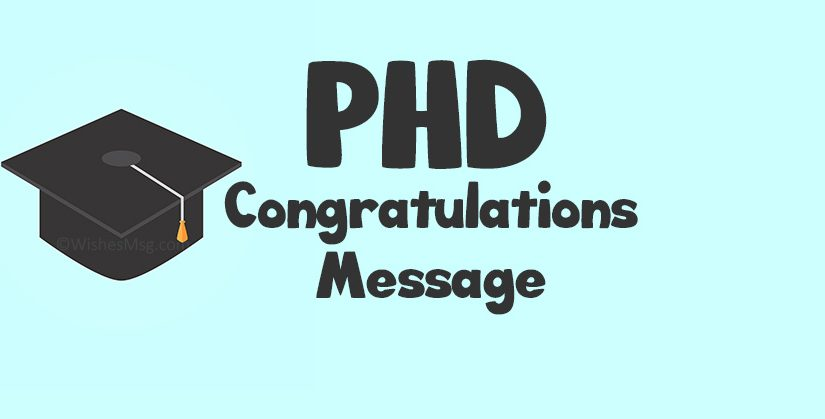 Congratulations Messages for PhD or Doctorate Degree