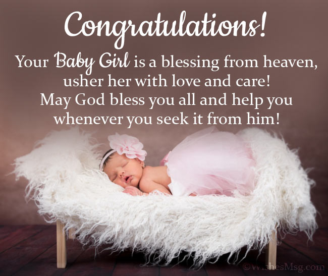 Congratulation Card Message for New Baby Girl