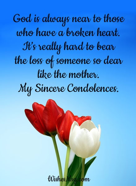 Condolence Messages On Death Of Mother Sympathy Quotes Wishesmsg