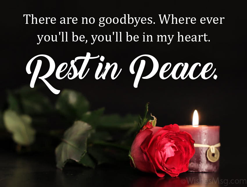 Message to Say Rest in Peace