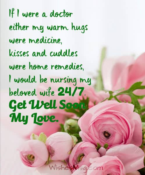 Romantic Get Well Soon Messages for Wife