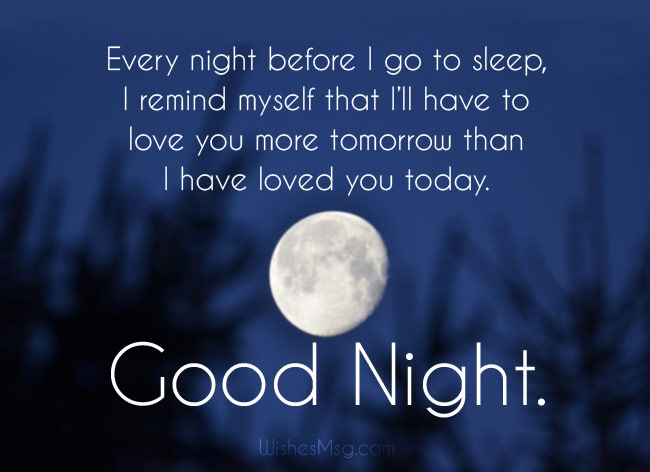 Romantic Good Night Wishes for Husband