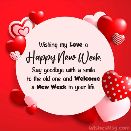 Romantic New Week Wishes for Lover