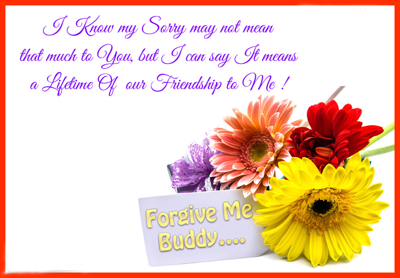 Sorry Messages To Best Friend  Apology Card Messages