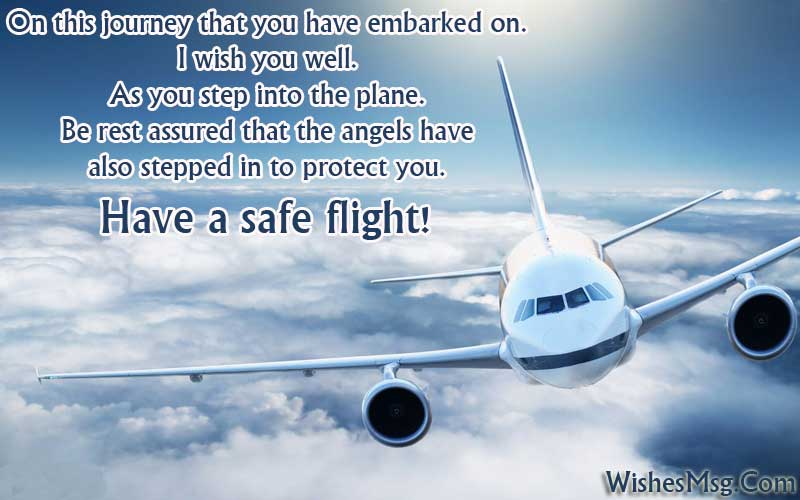 Safe journey wishes messages flight road trip or travel wishesmsg safe flight wishes and messages m4hsunfo