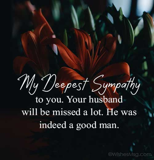 Short-Sympathy-Message-for-Loss-of-Husband