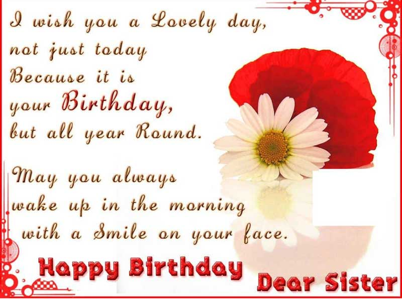 Sister birthday wishes birthday messages for sister wishesmsg sister happy birthday quote m4hsunfo