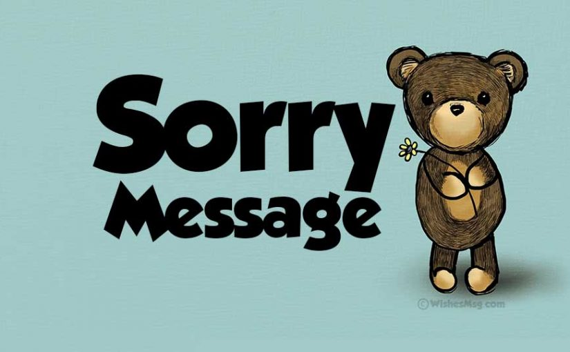 Apology Message