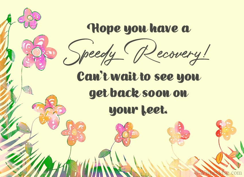 Get Well Wishes for Fast Recovery