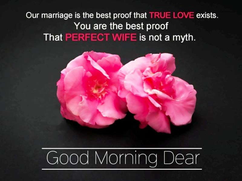 Good morning romantic message for my wife