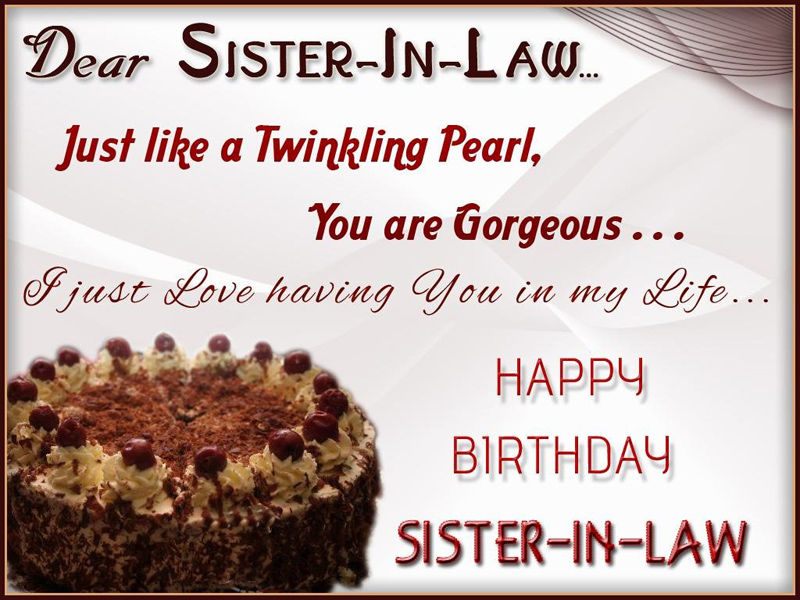 Birthday Wishes For Sister In Law Messages Quotes WishesMsg – Sister Birthday Greetings Message
