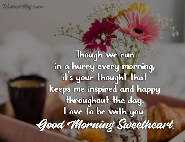 Good Morning Messages For Wife Romantic Morning Wishes