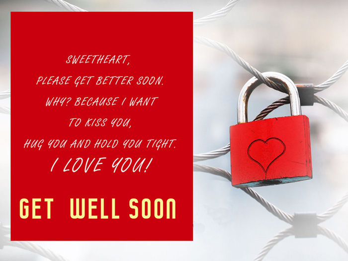 Sweetheart get better soon wishes
