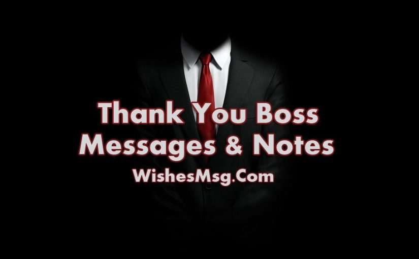 50 Thank You Message For Boss - Appreciation Quotes ...