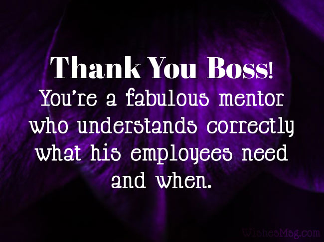 60 Thank You Messages For Boss Appreciation Quotes Wishesmsg