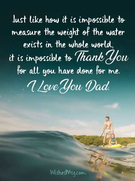 Thank You Messages for Dad From Son