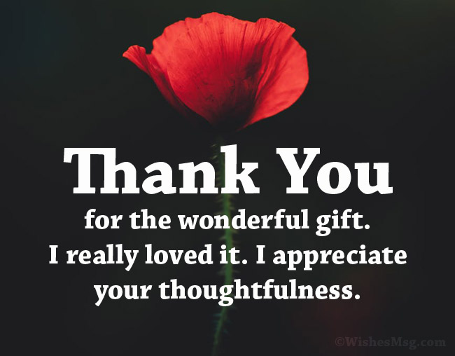 90 Perfect Thank You Messages For Gift Wishesmsg