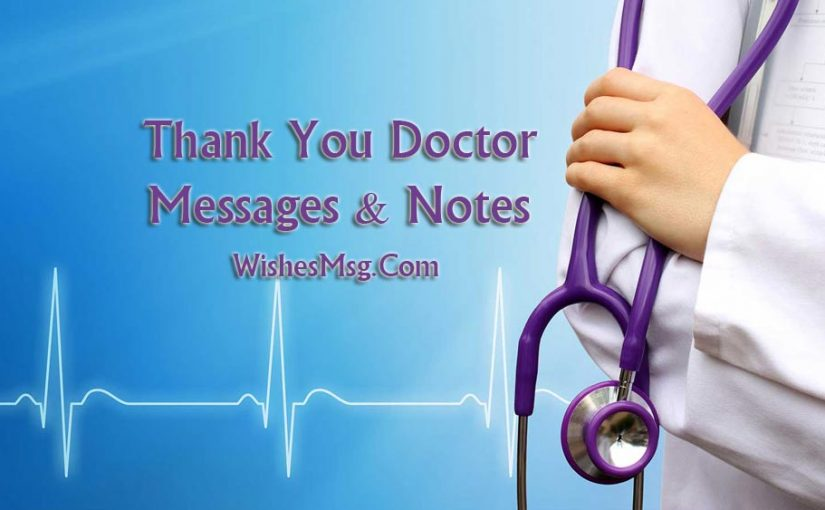 thank you message for doctor appreciation notes quotes