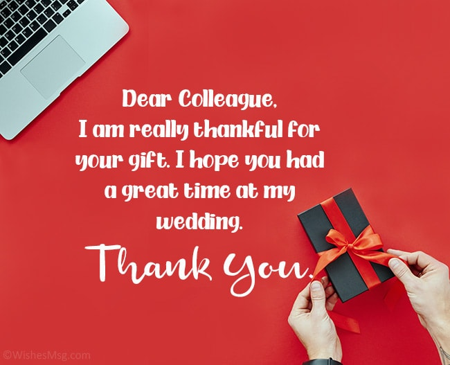 Thank-You-Messages-To-Colleague-for-Wedding-Gift