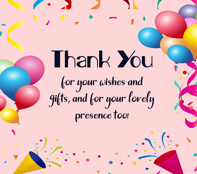 Thank You Messages for Birthday Gift