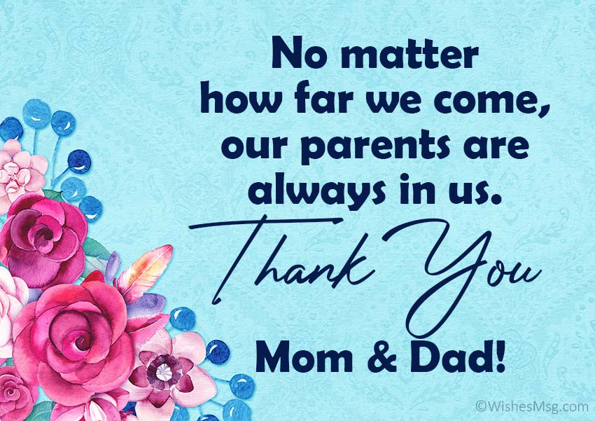 Thank You Dad and Mom Quotes