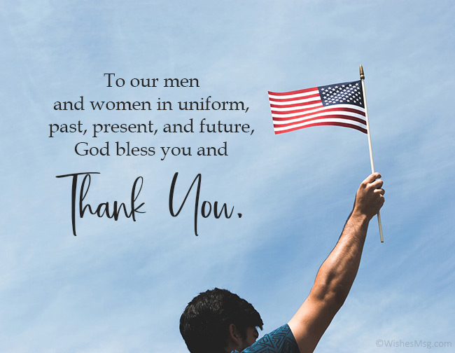 Thank You Veterans Messages