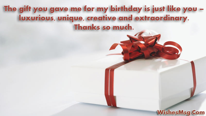 Thank You Message For Birthday Gift