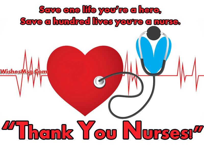 Thank you messages for nurses and appreciation notes