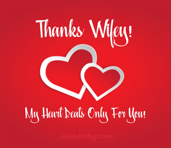 Thank You Messages For Wife Sweet Wishes Quotes Wishesmsg