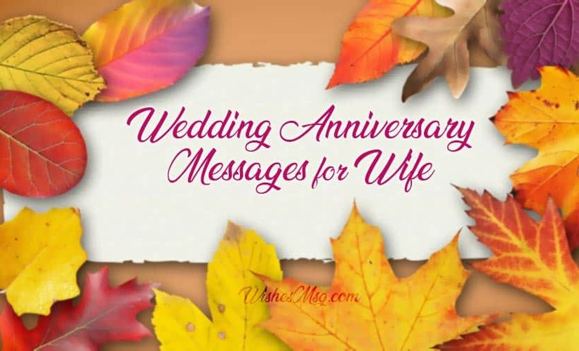 Wedding Anniversary Wishes for Wife – Sweet Romantic Messages