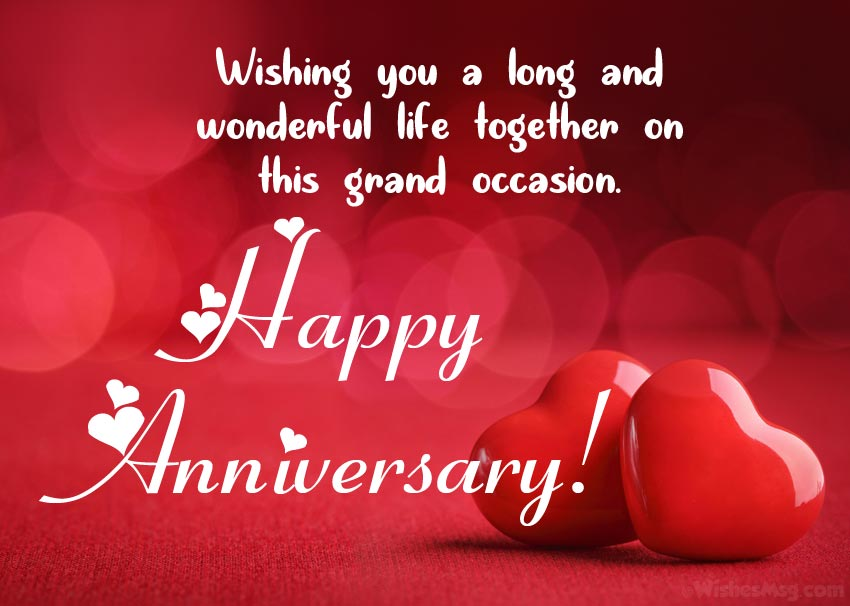 10+ Wedding Anniversary Wishes and Messages - WishesMsg