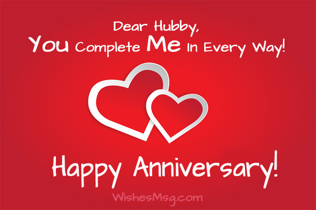 Wedding Anniversary Wishes Messages For Husband Wishesmsg