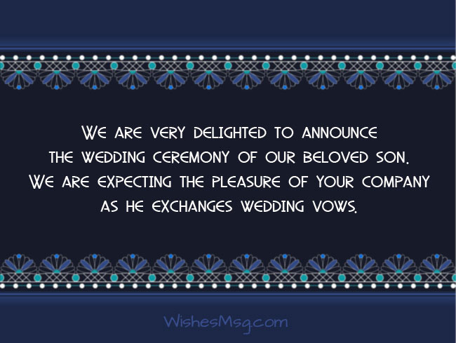 30 Wedding Invitation Messages And Wording Ideas Wishesmsg