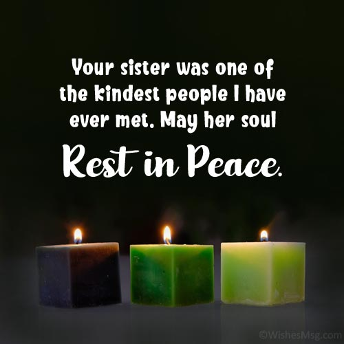 Words of Comfort for Loss of Sister