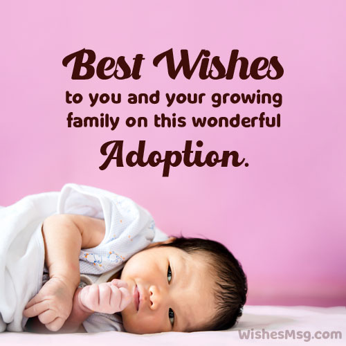 what to write in an adoption card