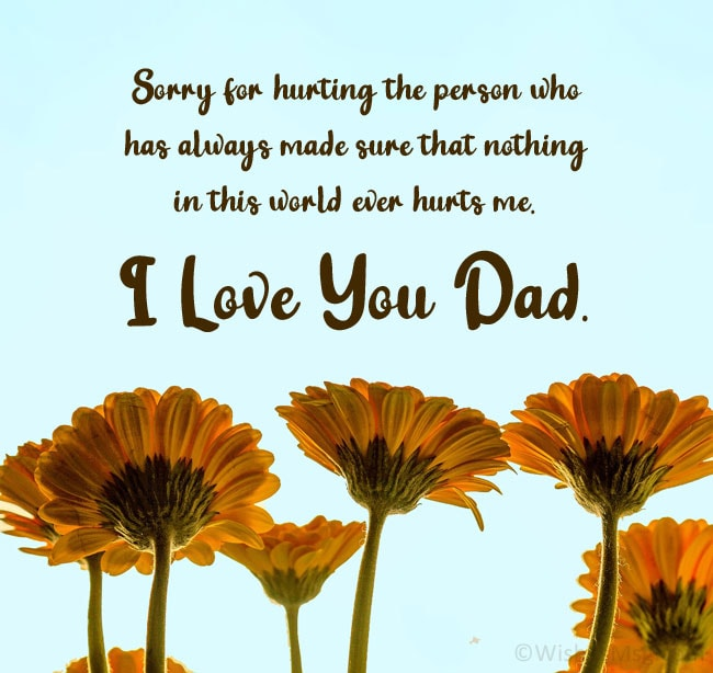 apology message to my dad