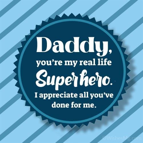 appreciation message to my dad