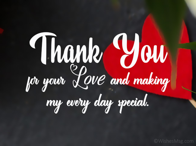 Thank You My Love Messages And Quotes Wishesmsg