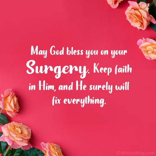before surgery wishes and prayers