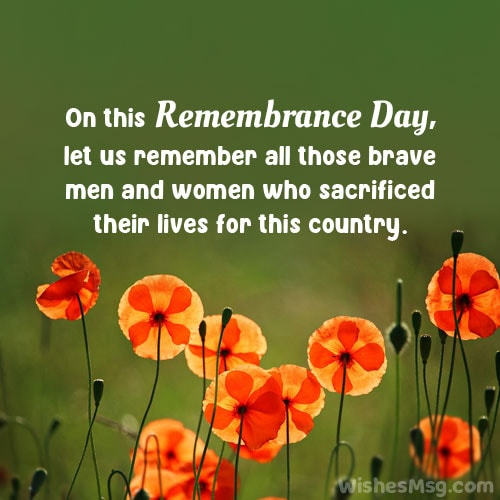 best remembrance day message