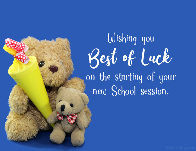 best wishes for new school year