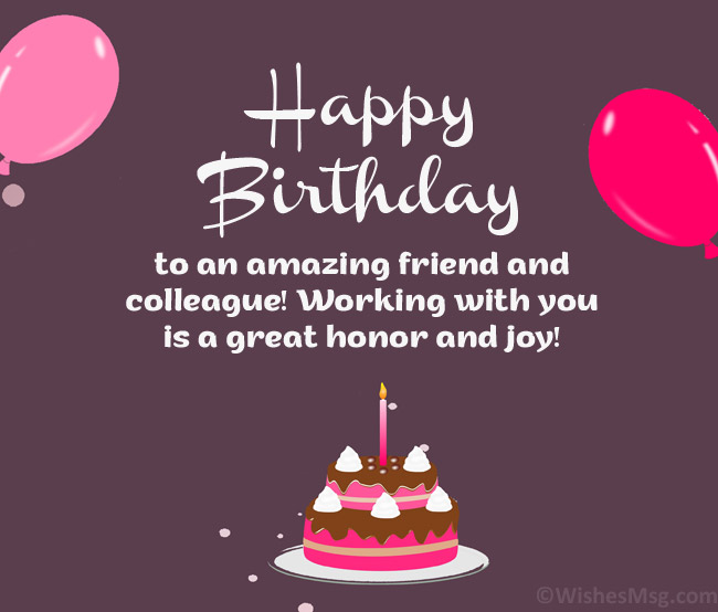 birthday wishes for a colleague