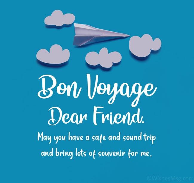 bon voyage wishes friend