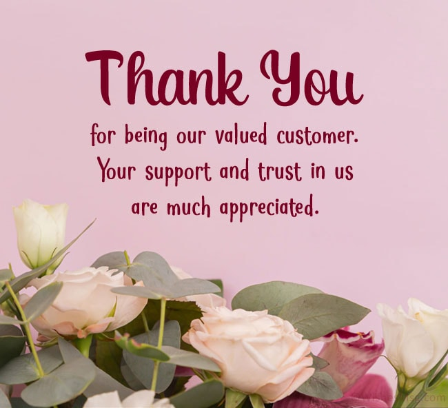 business thank you messages to customers