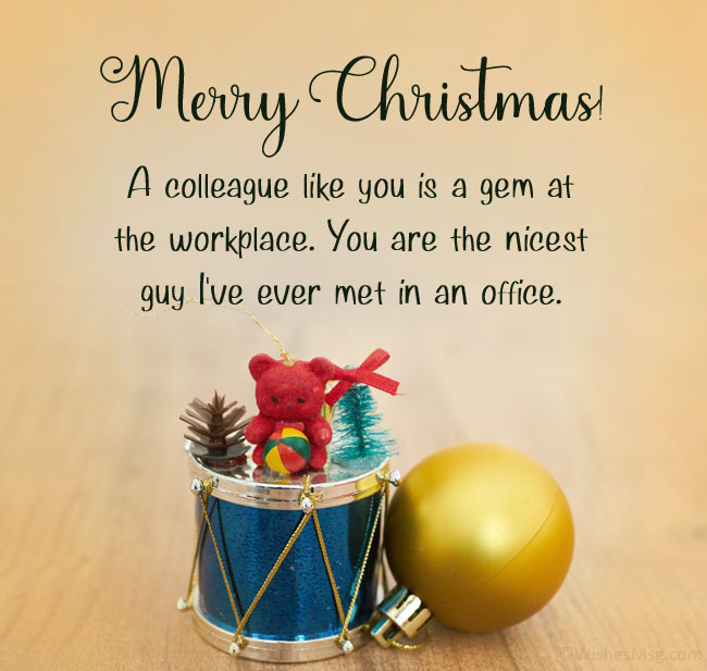 christmas wishes to colleagues