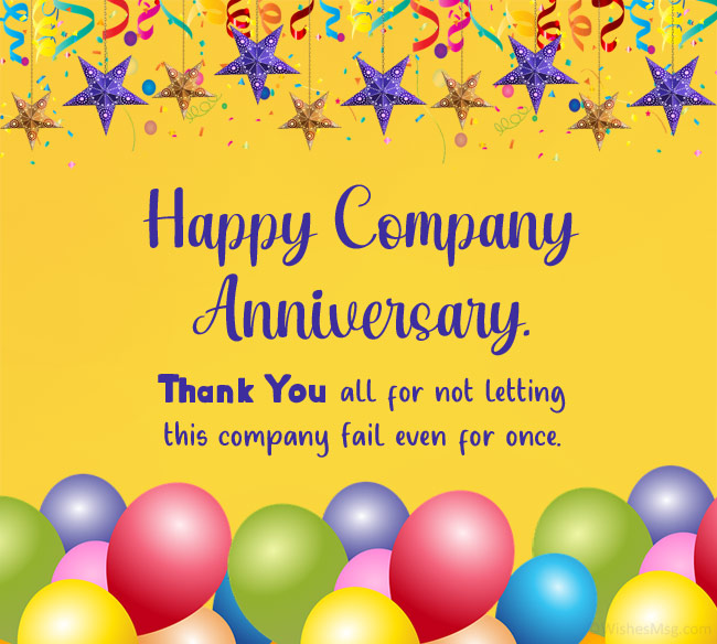 company anniversary wishes to employees
