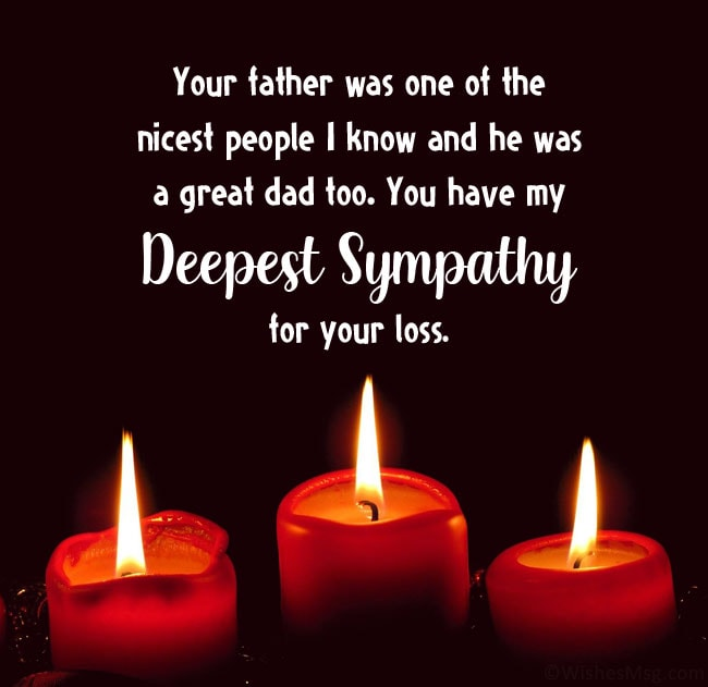 condolence message on death of friends father